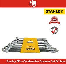 Stanley – 8Pcs Combination Spanner Set – 8-19mm – 70-963E - Matte Finish.