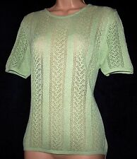 BNWT Laura Ashley vintage spring 97 pistachio short sleeve lace jumper, medium
