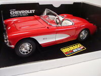 Bburago 1:18 Chevrolet Corvette Rot/Weiß code 3024 A 99 Neuwertig OVP