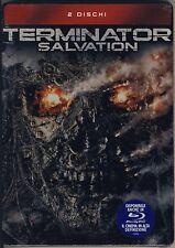 TERMINATOR SALVATION cofanetto nuovo sigillato 2 DVD tin metal box