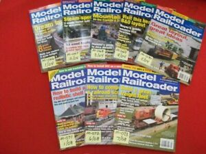 8-VINTAGE COLLECTIBLE MODEL RAILROADER MAGAZINE ISSUES 2004 & 2008 LISTING #5/5
