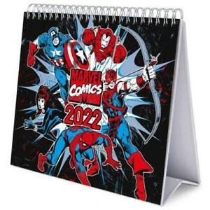Marvel Comics Year 2022 Hardback Desk Easel Calendar Page-a-Month Tent