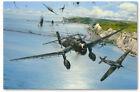 Open Assault - art print by Robert Taylor - Ju87 Stuka / Hawker Hurricane