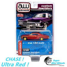 CHASE ! Ultra Red ! Auto World 1:64 Custom Lowriders 1966 Chevy Impala SS Purple
