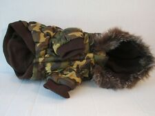 Brown Camouflage Camo Dog Pet Parka Coat Jacket Hoodie Size Small By Pet Life