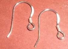 925er Sterling Silber - Ohrhaken.  Ohrringe. 14mm. 2 Stück.