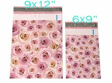 50 Bag 6x9 9x12 Pale Pink Rose Designer shipping Mailers Poly Shipping Envelopes