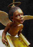 "Thomas Blackshear Ebony Visions ""On The Wings of Praise"" Ornament 1998 #37039"