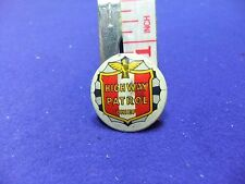 vtg tin badge highway patrol chief 1950s 60s television childrens club police