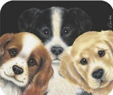 MOUSE PAD--Peeping Puppies by Fiddler's Elbow **Beautiful**