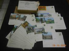157 Bildpostkarten - farbig - Ganzsachen kpl Serie 1976 dtsche Städte 40 Pfennig