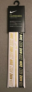 NEW 3 Pack Gold Nike Headband Sports Band Running Hair Grip Men Women Unisex