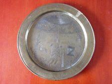 "Antique Judaica Brass large plate describing ""The Binding of Isaac"""