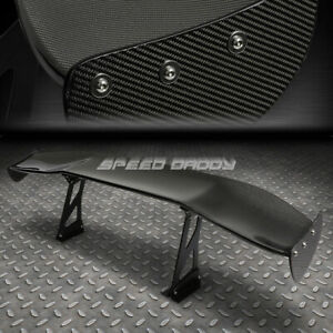 "NRG CARBON FIBER GT STYLE 69"" JDM RACING REAR/BACK TRUNK SPOILER/WING+BRACKETS"