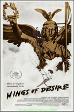 WINGS OF DESIRE MOVIE POSTER Original SS 27x40 WIM WENDERS 1988 Film