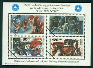 GERMANY SPORTS AID OLYMPIC COMMITTEE S/S UNISSUED DESIGN HORSE RIDING /m2336