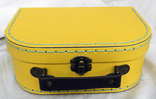 Retro Bright Yellow Suitcase Style Storage Box - Small - NEW
