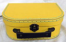 Retro Bright Yellow Suitcase Style Storage Box - Small - NEW