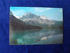 PRE STAMPED POSTCARD EMERALD LAKE BRITISH COLUMBIA VINTAGE CANADA POST OFFICE