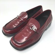 Coach Womens Shoes Burgundy Leather Loafers P062 Claudia Size 9 B Made in Italy