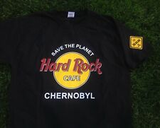 Hard Rock Cafe CHERNOBYL T-shirt and pin. Black. Size L