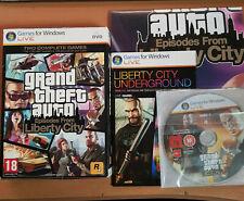 Grand Theft Auto-Episodios De Liberty City 2 Discos-PC DVD como nuevo