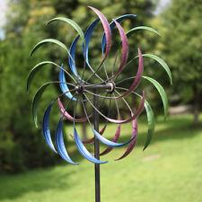 "79"" Metal Kinetic Rainbow Wind Spinner Decorative Lawn Ornament Wind Mill"