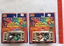 Imperial MINI MOTOR MACHINES Pull Back & Go COLOR CHANGE 1988 LOT of 2 Die-Cast
