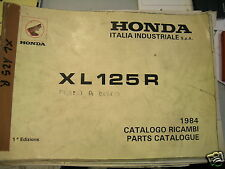 BB 18KB91IT Catalogo Parti di Ricambio HONDA XL 125 R freno a disco Ediz.1984