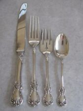 TOWLE OLD MASTER STERLING SILVER FOUR PIECE PLACE SETTING - NO MONOGRAM