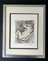 HENRI MATISSE CIRCA 1954 AWESOME SIGNED PRINT MATTED 11 X 14 + BUY IT NOW!!