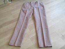 BODEN Sassy Checked  Richmond 7/8 Trousers  - UK 12 L