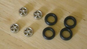 """1/43rd scale 5 spoke alloy  wheels by K&R Replicas for cars with 16"""" wheel"""