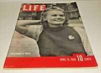 April 15, 1940 LIFE Magazine Historical 40s Advertising FREE SHIP 4 Apr 23 news