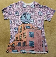 Rare cool Natty Boh Funky T-shirt Baltimore Beer Brewery Boh Large L Hipster Tee