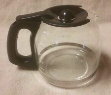 BLACK & DECKER 12 Cup Replacement Glass Coffee CARAFE DECANTER POT w/ Lid Black