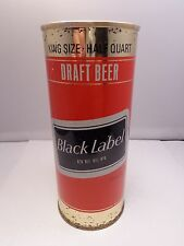 BLACK LABEL DRAFT GOLD BANDS 16 oz STRAIGHT STEEL PULL TAB BEER CAN #140-13