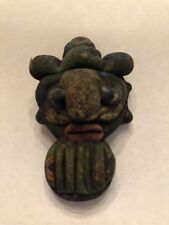 Antique Phoenician Handmade Mosaic Glass Face Pendant / Bead