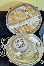 VINTAGE General Electric GE Deluxe Hair Dryer Bonnet Case HD2A Portable Retro