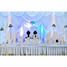 Silver Mr and Mrs Letters Sign Wooden Standing Top Table Wedding Decorations