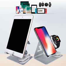 Silber Legierung 3 in 1 Ladestation Stand Station Halter für iWatch/iPhone/iPad