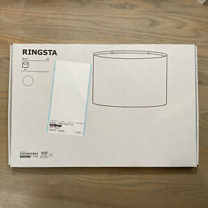 """IKEA - Ringsta - 13"""" White Lamp Shade - #104.053.64 - BRAND NEW OPEN BOX"""