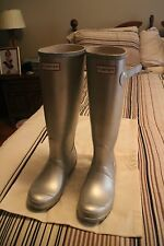 HUNTER Original tall Rubber Silver Rain Boots US 37