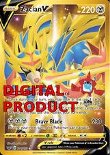 Zacian V SECRET RARE SSH 211 Pokemon TCG Online DIGITAL cards PTCGO