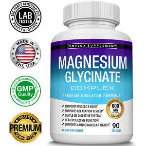 Magnesium Glycinate 525 MG Complex 90 Capsules125% DV High Absorption Magnesium