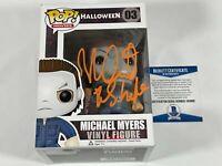 Nick Castle Signed Michael Myers Funko Pop Halloween Autograph Beckett BAS COA!