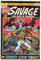 Doc Savage Man Bronze Marvel Comic Book #2 Steranko cvr