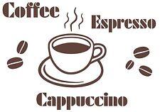 Wandtattoo Kaffee f. Deko, Küche,  Aufkleber-Wandbild