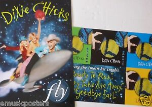 """DIXIE CHICKS """"FLY"""" 2-SIDED U.S. PROMO ALBUM POSTER - Country, Bluegrass Music"""