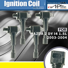 A-premium 4x Ignition Coil Pack for Mazda 2 DY I4 1.5L 2003-2004 ZY-VE ZJ0118100